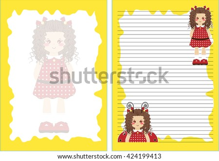 vector printable letter paper
