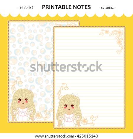 vector printable letter paper
