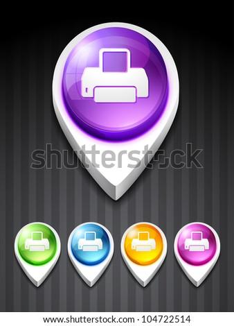vector printer 3d style icon