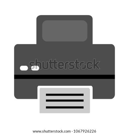 vector printer illustration isolated - print icon, document print sign symbol