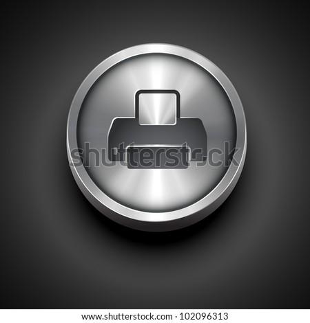 vector printer metallic icon design