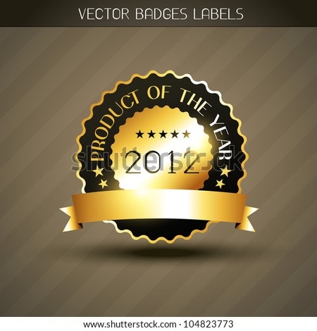 vector product of the year golden label