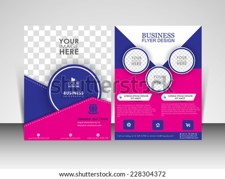modern blue professional brochure flyer design template download