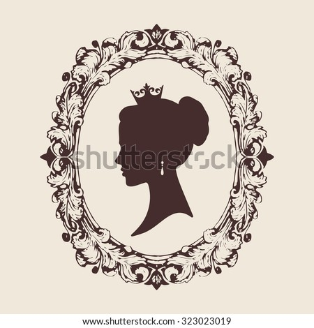 vector profile silhouette of a