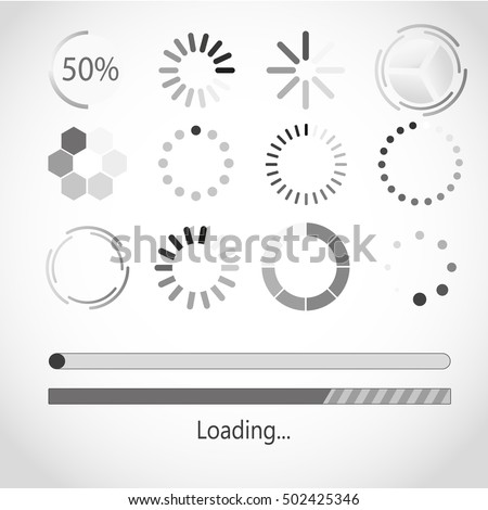 Vector progress loading bar. Progress loading icon