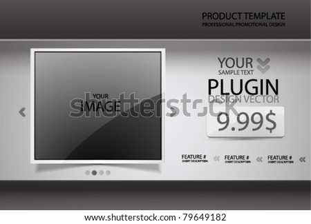 Vector promotional web design template