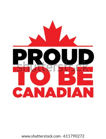 Vector Proud to be Canadian Emblem
