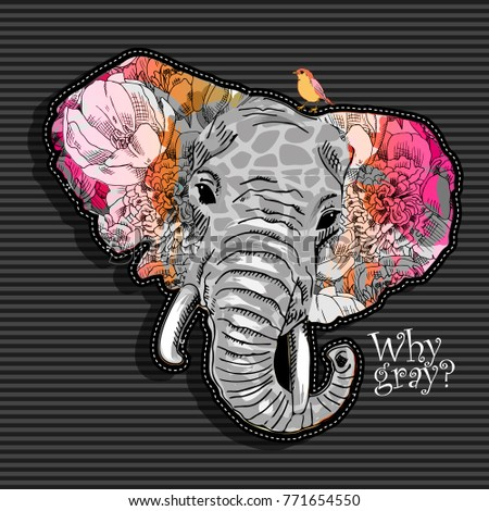 vector psychedelic elephant