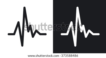 Heartbeat Line Art : Heart rate icon free vector download art stock