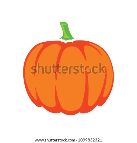 vector pumpkin illustration isolated, halloween holiday symbol