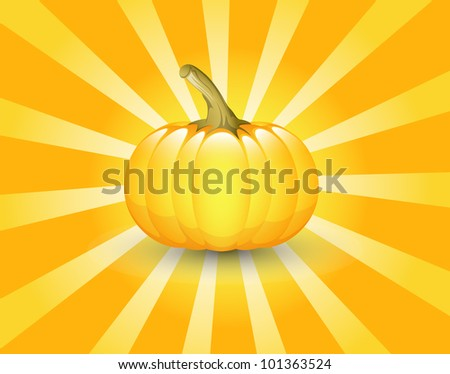 Vector Pumpkin Retro Background - stock vector