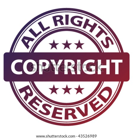 "vector pure ""copyright"" stamp"