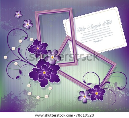 vector purple background with