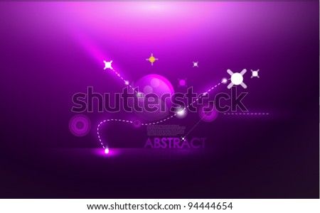 vector purple cosmic background