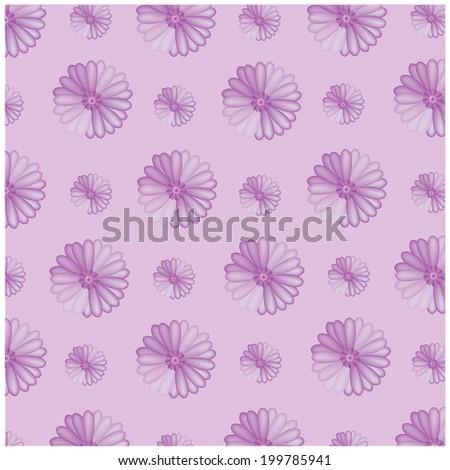 vector purple flowers on purple background