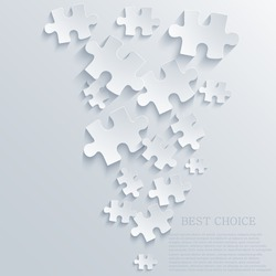 Vector puzzle background. Eps10