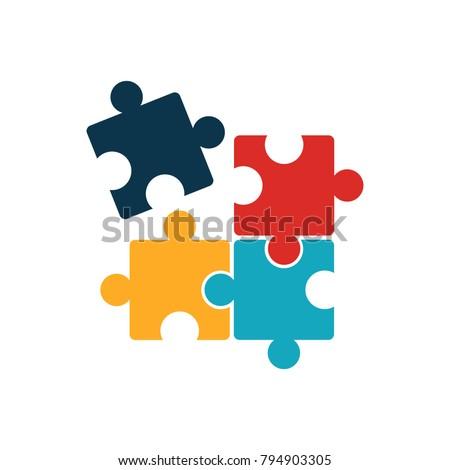 vector puzzle piece