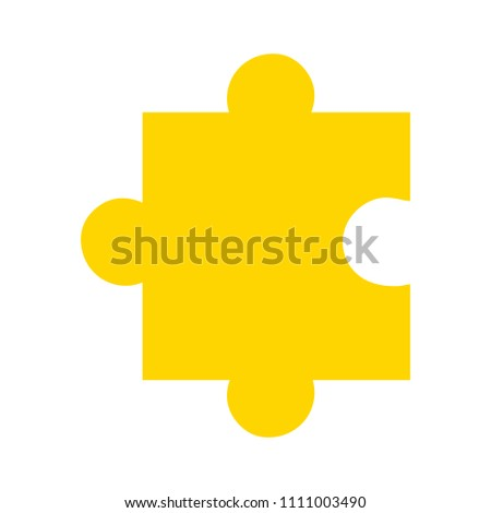 vector puzzle piece illustration, solution icon - leisure element