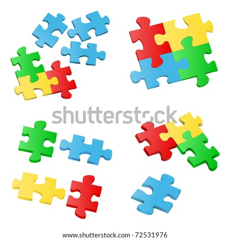 Vector Puzzle Pieces