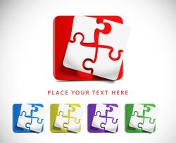 vector puzzle web icon design element.