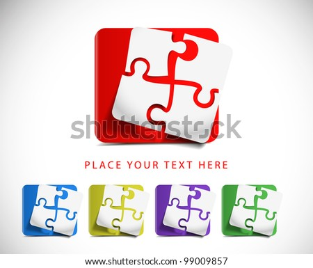 vector puzzle web icon design element.