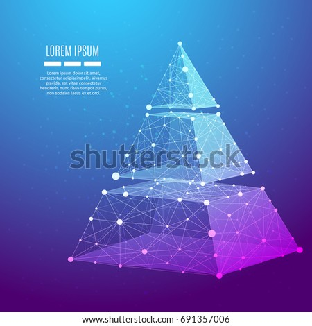 vector pyramid wireframe