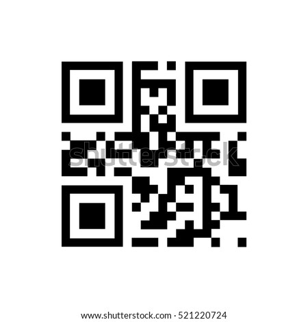 vector qr code sample for