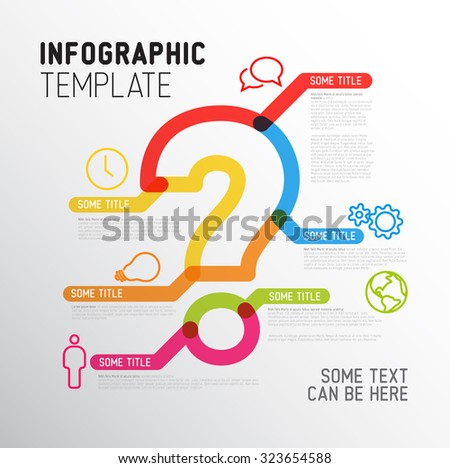 Infographic Ideas infographic lines : Vector Question Mark Infographic Report Template Made From Thick ...