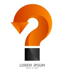 Vector question mark sign / can use for element graphic /  printing / web