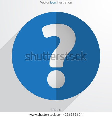 vector question web flat icon