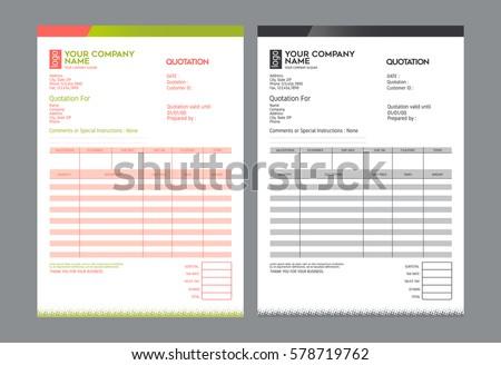 Vector quotation design template,