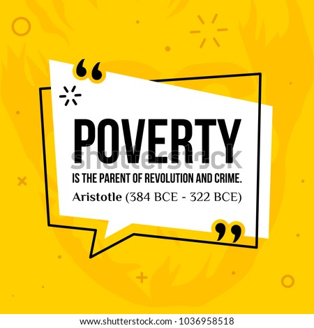vector quotation poverty is