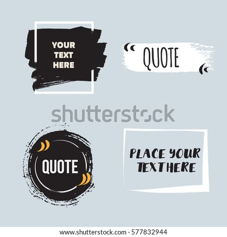 vector quote collection hand