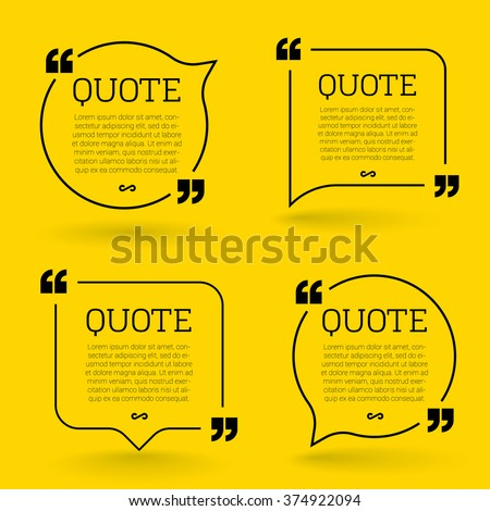 Shutterstock Vector quote mock up. Quote speech bubble template.