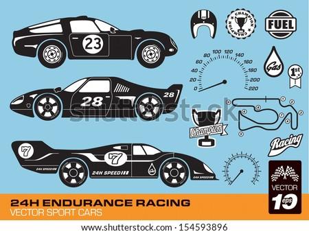 vector race cars