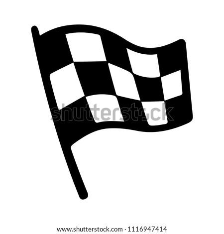 vector racing flag illustration, start finish winner - auto car competition