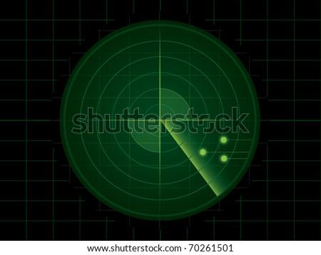 Vector radar screen - stock vector
