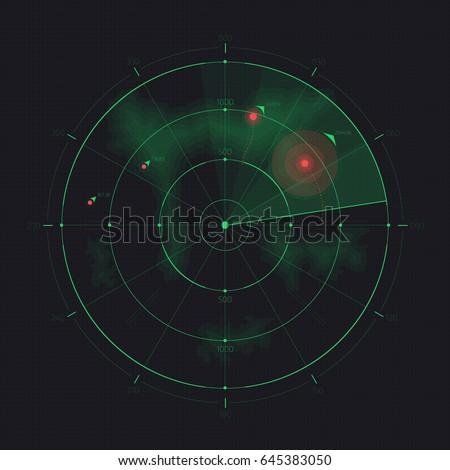 vector radar screen futuristic