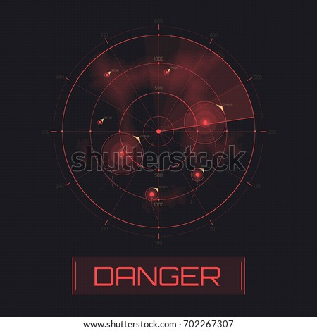 vector radar screen. text with...