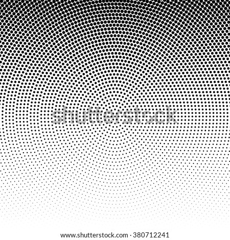 Vector radial halftone black background pattern on white. Abstract vector black and white dotted halftone background. Dot pattern