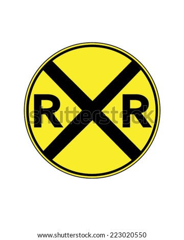 vector railway crossing traffic ...