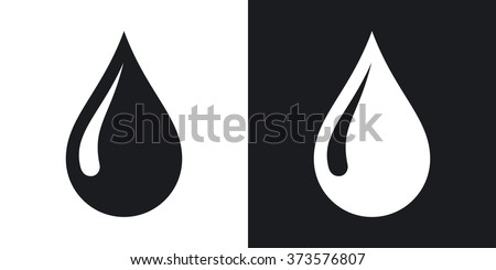 vector rain drop icon two tone