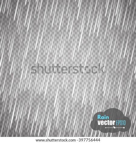 vector rain isolated on