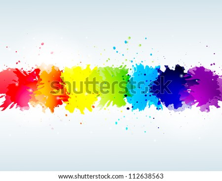 vector rainbow abstract background