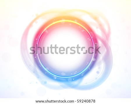 Vector - Rainbow Circle Border Brush Effect.