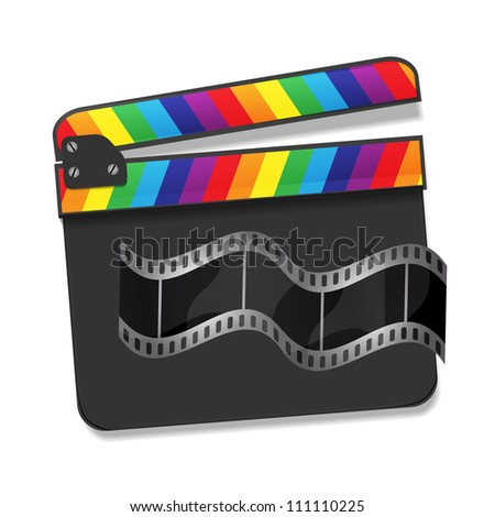 Vector rainbow clapboard