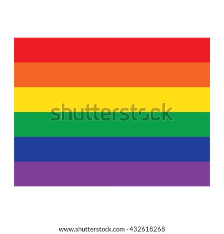 vector rainbow flag icon  gay