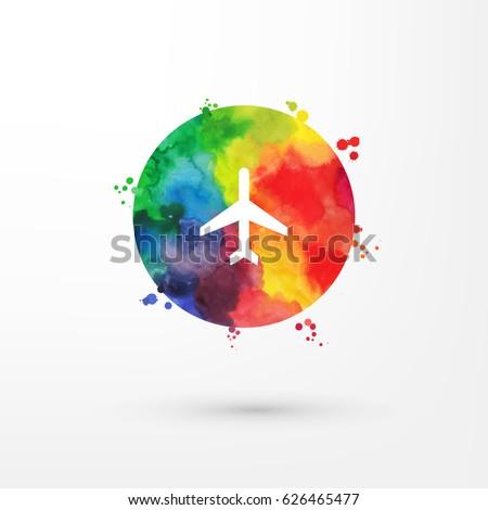 vector rainbow grungy