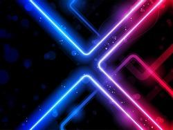 Vector - Rainbow  Lines Background Neon Laser
