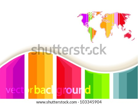 Vector rainbow world background
